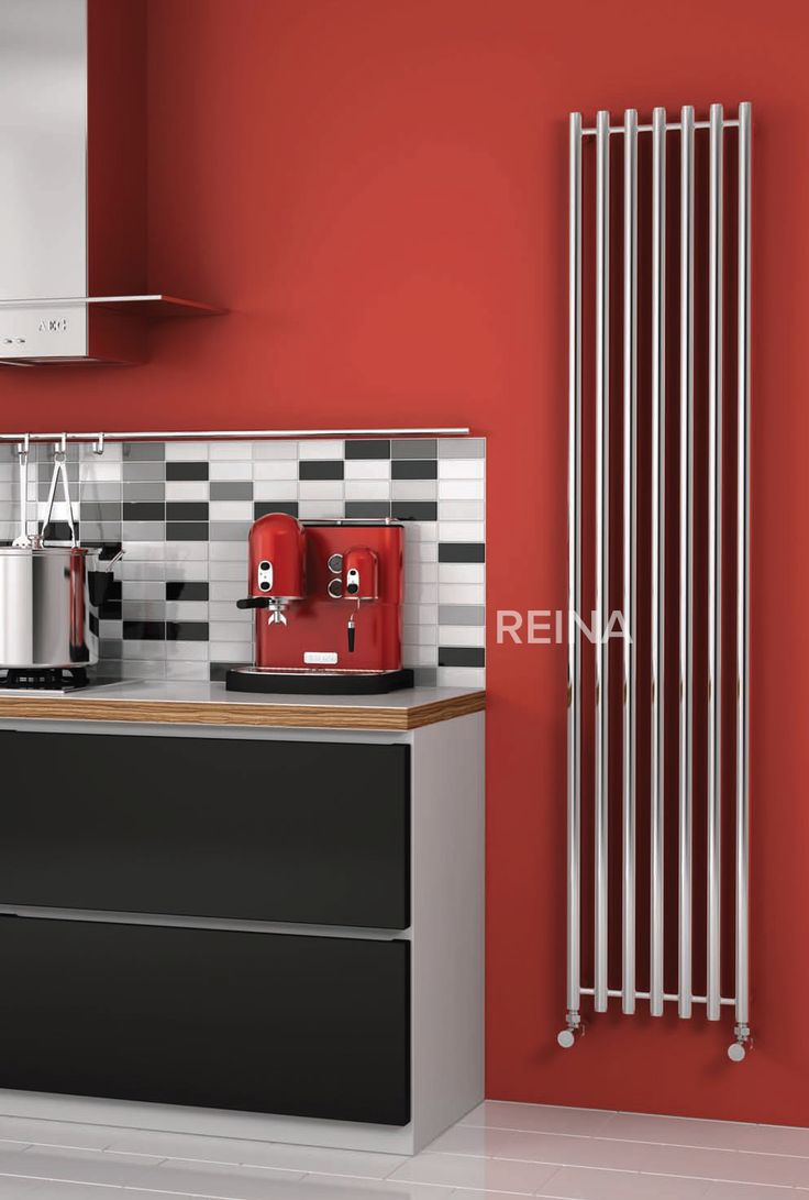 Reina Broni vertical tubed stainless steel radiator, with options of 1200mm and 1800mm heights.  The Broni is able to work on central heating, electric or dual fuel (perfect for summer months).  It comes complete with a 25 year guarantee. Prices from £216.21!