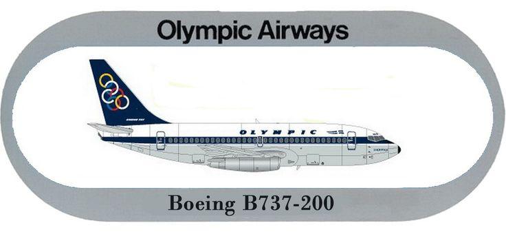 Olympic Airways Sticker Boeing B737-200