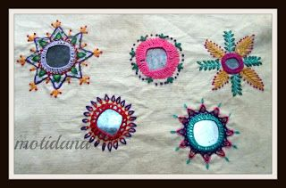 Indian mirror embroidery designs
