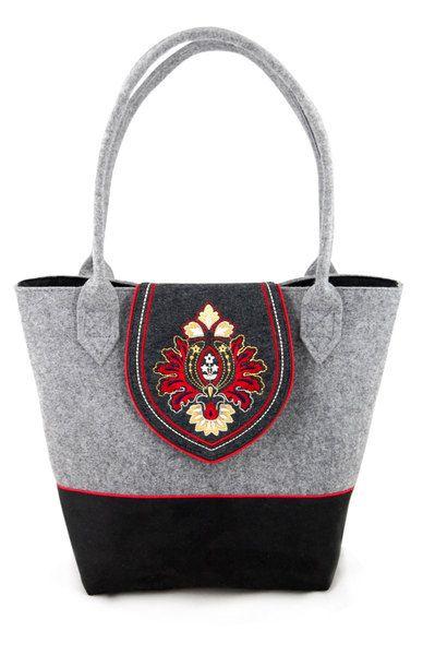 Duża torba DUO z patką Red w INCAT  na DaWanda.com