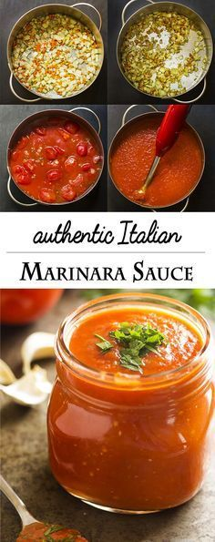 Authentic Italian marinara sauce is cooked low and slow to create a thick and flavorful sauce made in the manner of my family tradition.   justalittlebitofbacon.com