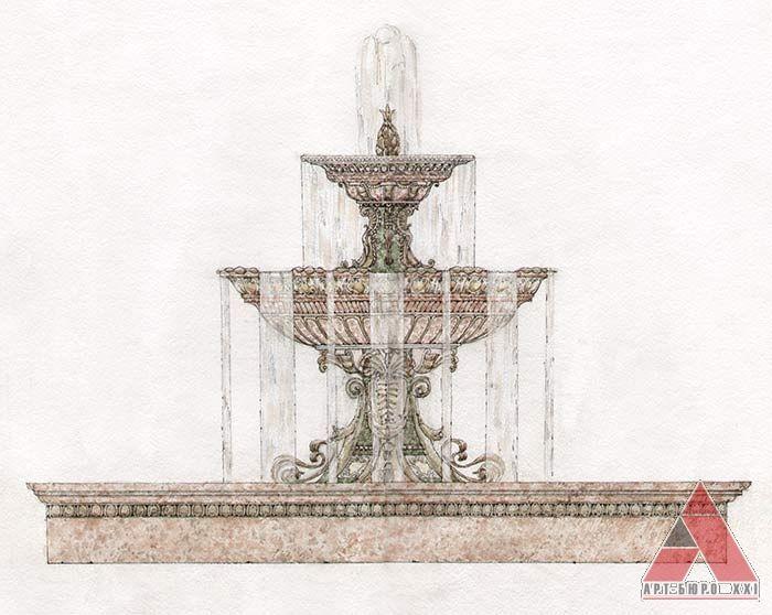 Проекты фонтанов  Частные дома, резиденции, виллы, общественные здания, проектирование и строительство