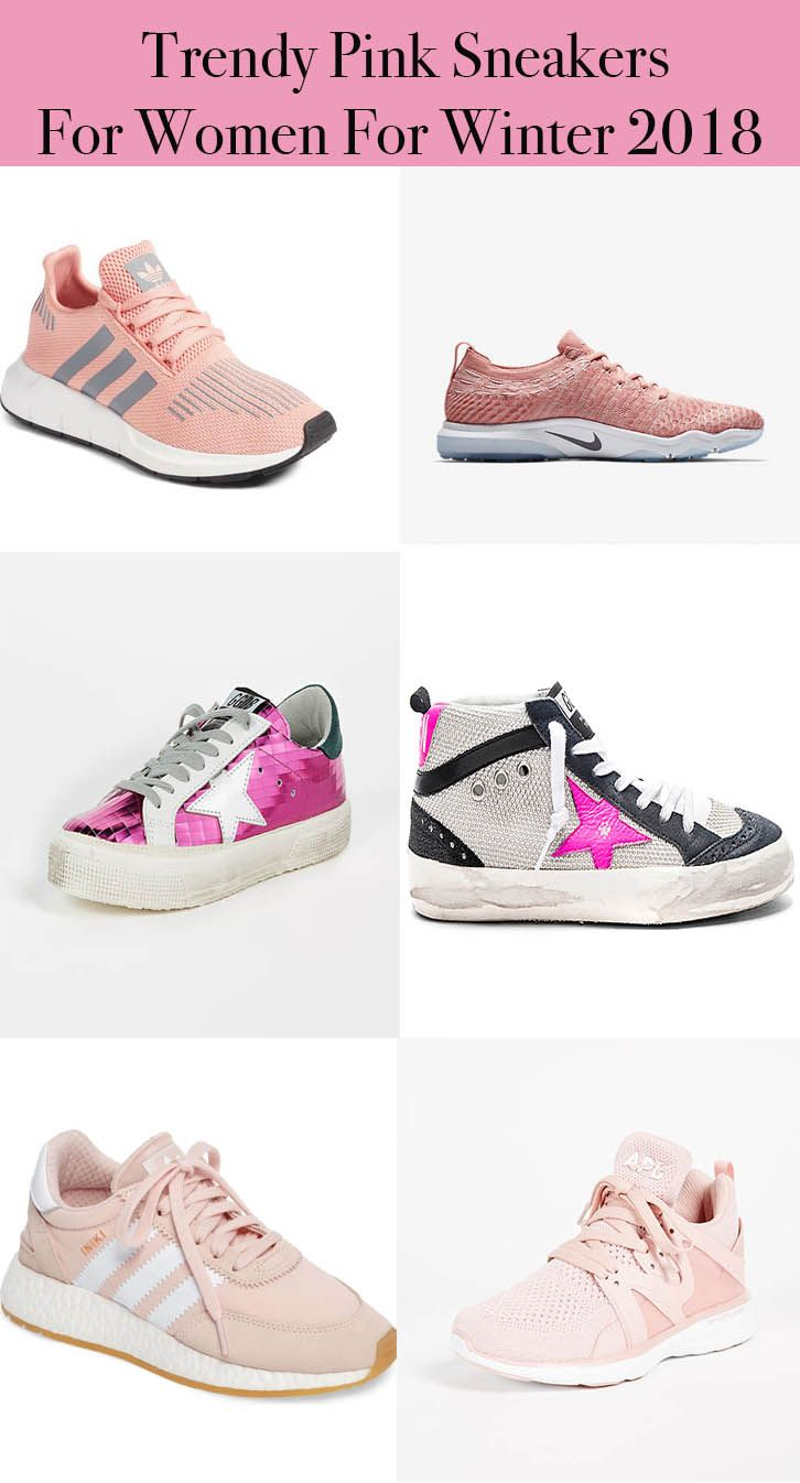 57a518e31 Trendy pink sneakers for women for winter 2018. Love the Golden Goose
