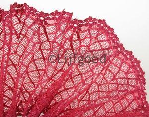 kant koraal roze  16cm kleine blomen rand elastisch  per meter
