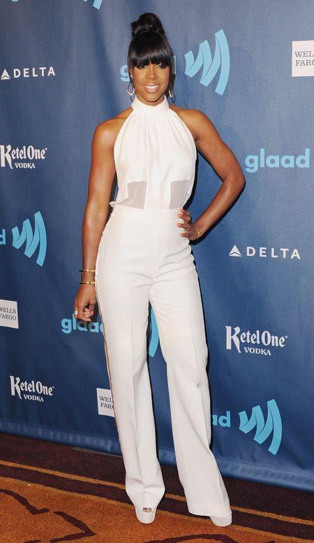 red carpet, celebrity fashion, Kelly Rowland, GLAAD Media Awards, celebrity style, - GLAAD Media Awards - red carpet - handbag.com