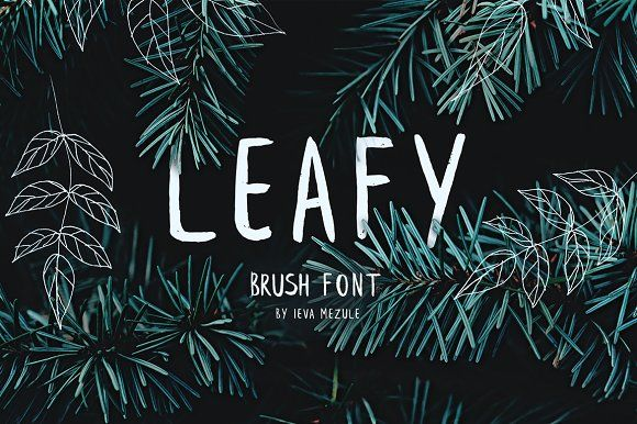 Leafy Brush Font by Wild Ones on @creativemarket