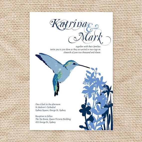 blue & hummingbirds :)