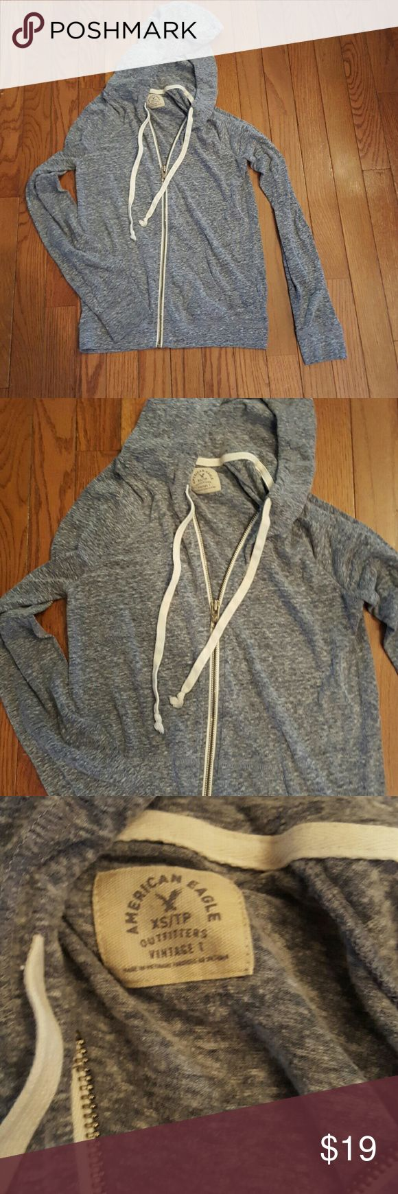 American Eagle Zip up Hoodie Beautiful Blue and white Vintage T style Size Xsmall American Eagle Outfitters Tops Sweatshirts & Hoodies