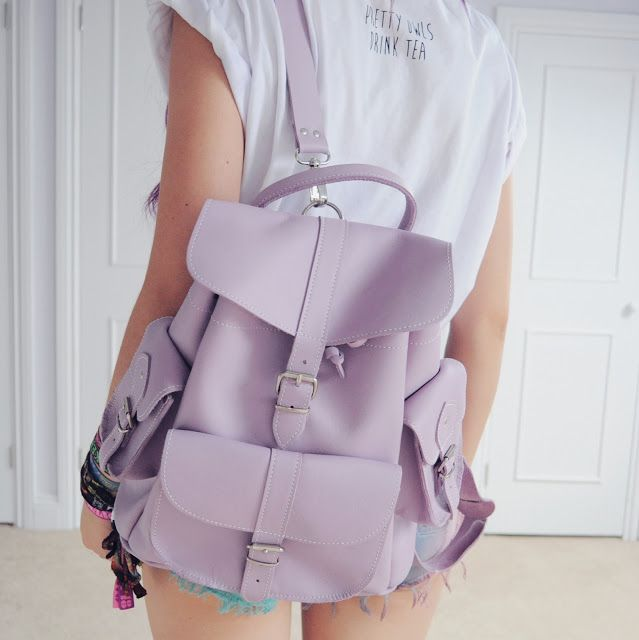 Purple leather rucksack by Grafea www.grafea.co.uk