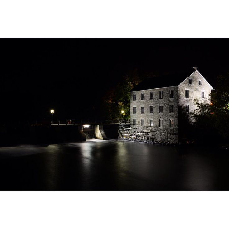 Watson's Mill - The first reported encounter with the ghost occurred in 1920 when a fisherman was fishing off of the dam at Watson's Mill and was caught in a violent wind and rain storm. Seeking shelter, he climbed in through an open basement window of the mill where he took refuge for the night. In the middle of the night he was awakened by the unearthly sound of a woman weeping.