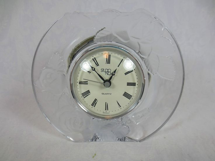 CLOCK MOVEMENT JAPAN STUDIO NOVA CRYSTAL  GERMANY Works ~Rose Pattern