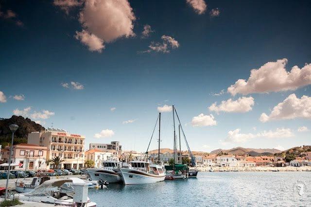 Lemnos, Greece. The port of Myrina.