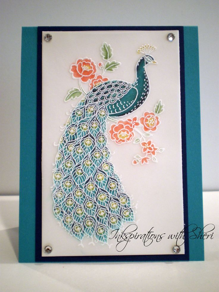 Stampin' Up! Perfect Peacock, Stained glass technique