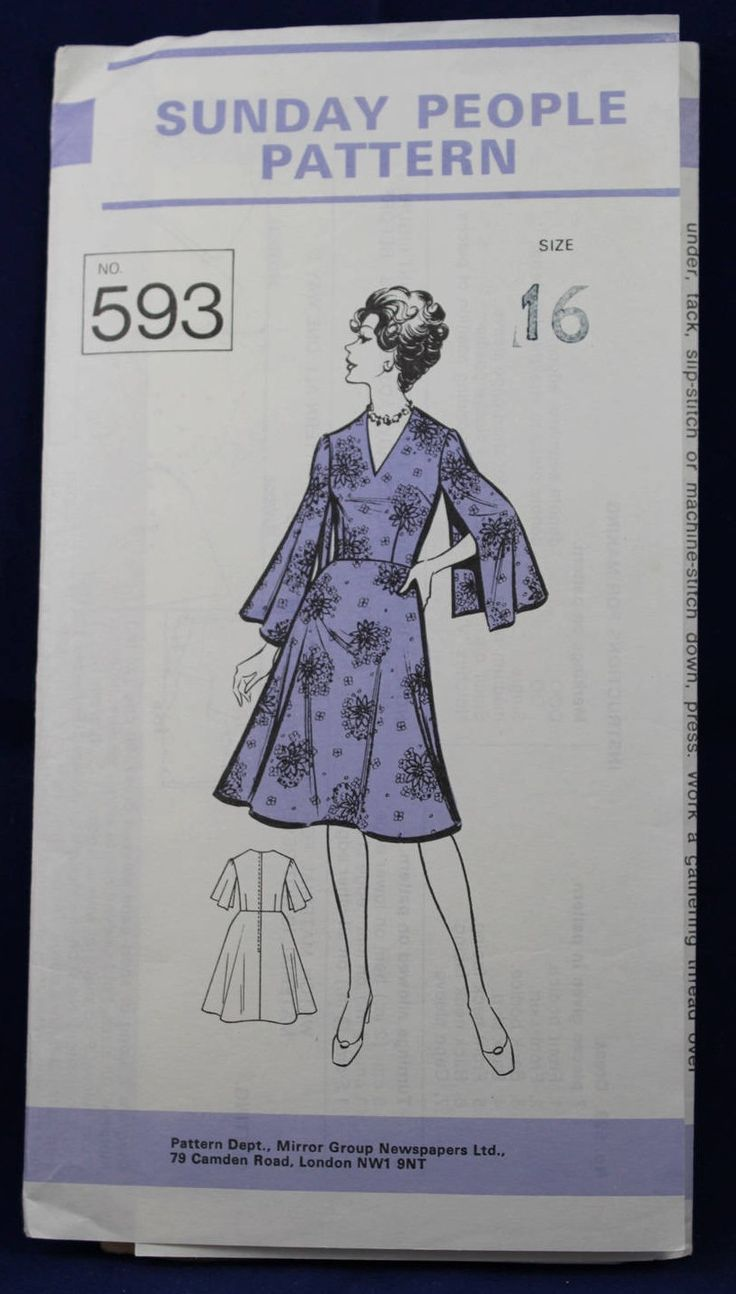 Vintage Sewing Pattern for a Woman's Dress Size 16 - The Sunday People 593 by TheVintageSewingB on Etsy