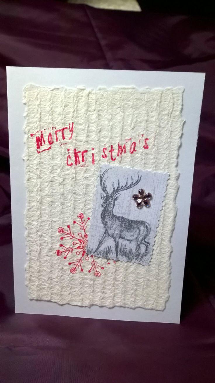 Postal Navidad, hecha a mano, sobre incluido 114x162 mm, Scrapbooking, OOAK de EspacioCanalla en Etsy