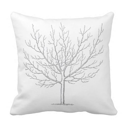 Grey Tree Pillow