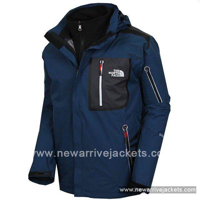 2013 Men\'s North Face Gore Tex Water Blue Coats http://