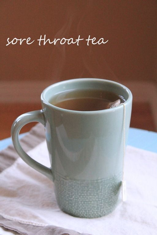 st brew your favorite bag of tea in hot water, then add 1 T apple cider vinegar and 1 T of honey. I promise you'll be feeling better, and back to hugging honeybears in no-time..