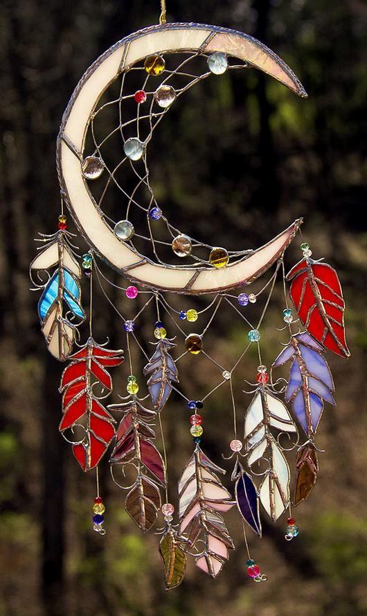 """Moon Shadow"" Dreamcatcher In Glass - Delphi Artist Gallery"