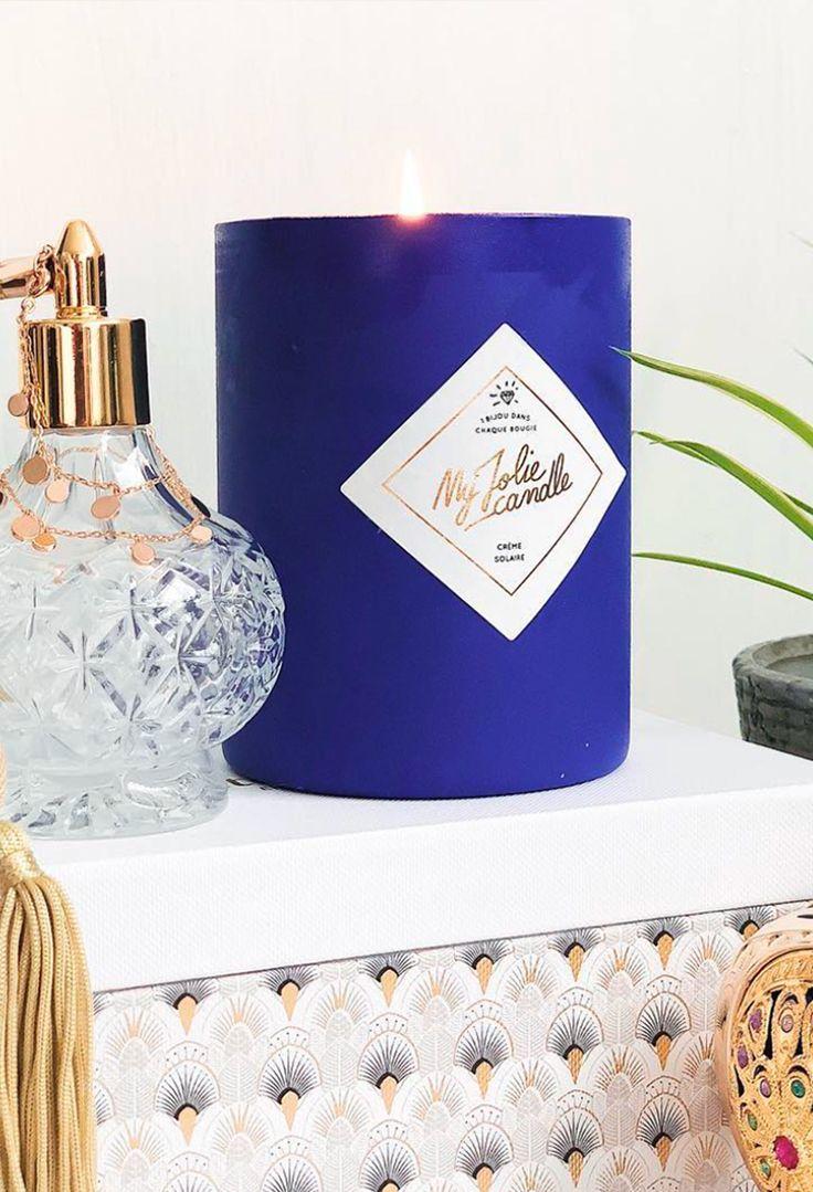 c86ff027408647 Bougie Bijou Édition Numéro 5 - Crème Solaire   My Jolie Candle en 2018   My  jolie candle   Pinterest   Candles et Candels