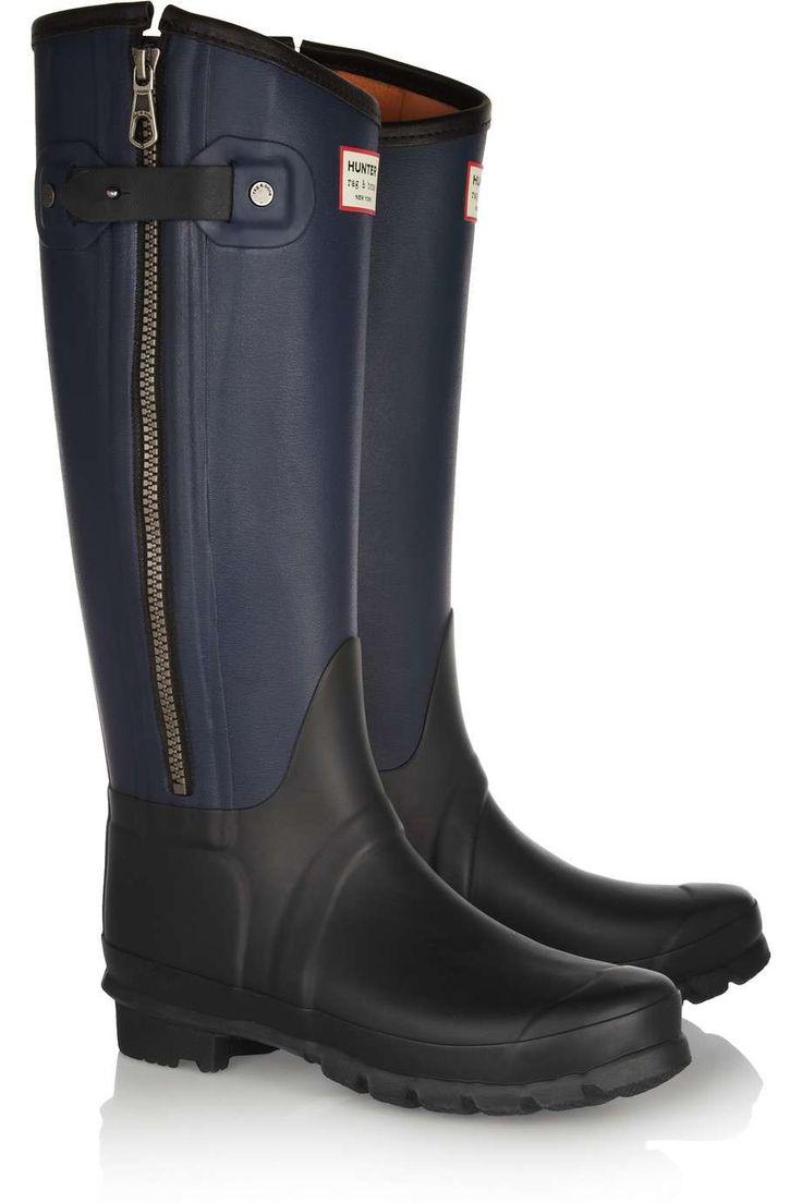 Hunter + rag & bone leather-effect Wellington boots