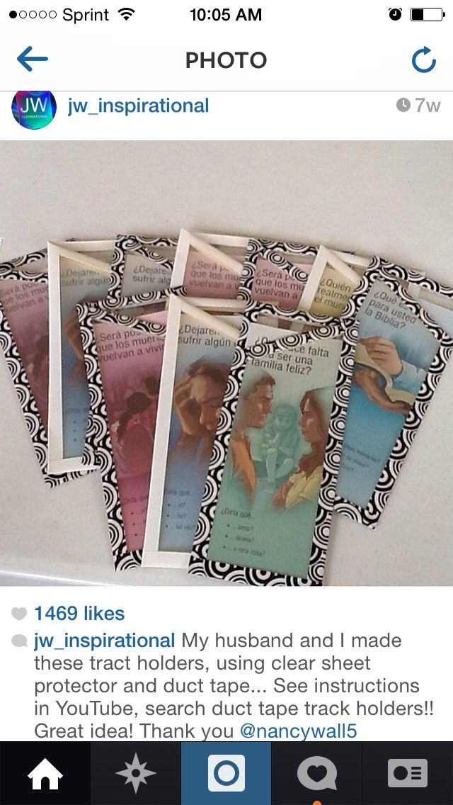 Duct Tape Tract Holders I wanta make these but put them together and make a book