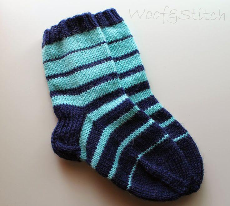 woof&stitch -käsillä tekevän blogi: Raitasukat