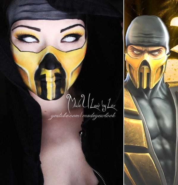 The girl version cosplay of Scorpion from mortal kombat. :)