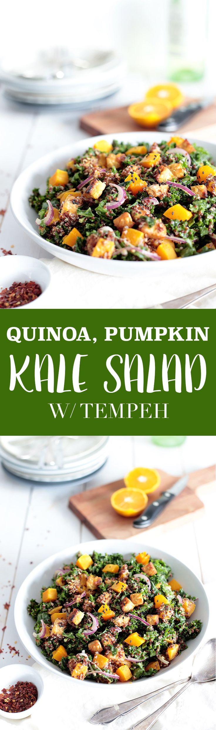 Quinoa, Pumpkin and Kale Salad with Tempeh