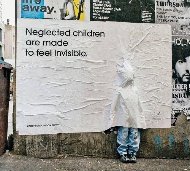 Neglected children are made to feel invisible.  It is form of child abuse we hardly recognize. Every child deserve love care and attention.