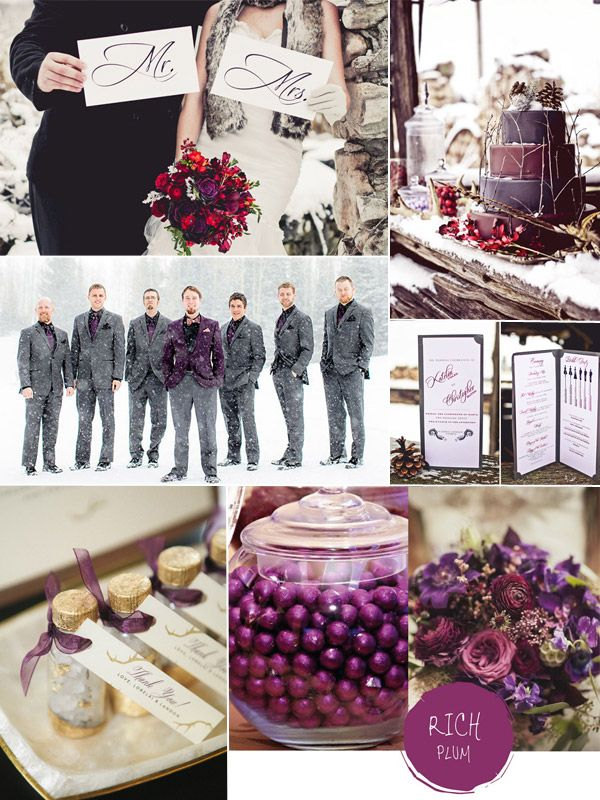 Purple Hues for Winter Wedding Color Ideas and Bridesmaid Dresses 2014 #tulleandchantilly