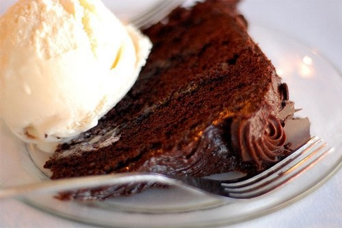 Chocolate Cake + Vanilla Ice Cream | Food for Thought ...