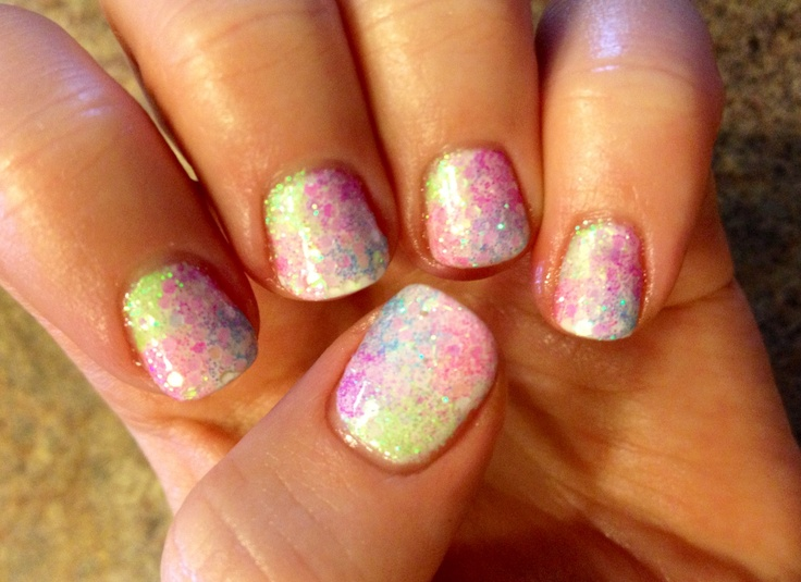 Mermaid nails :)