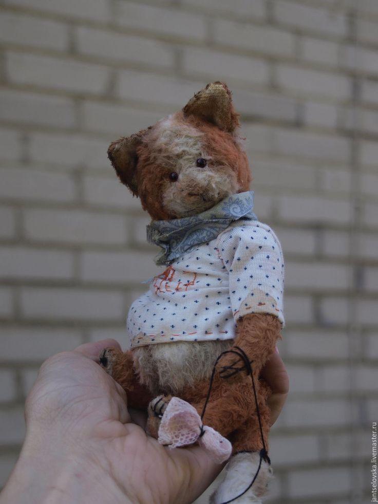 Купить Ленивый кот Николя..! - рыжий, друзья мишек тедди, кот, винтажный стиль