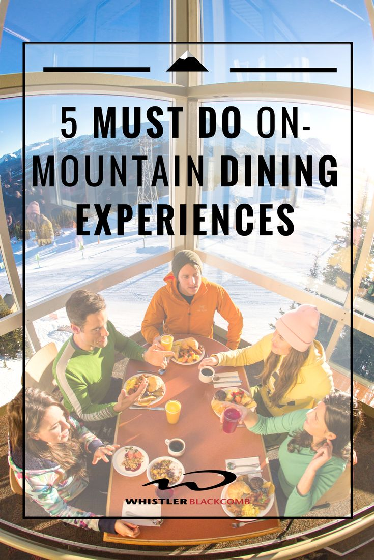On two mountains with over 14 dining locations, Whistler Blackcomb has a lot of dining experiences to try. I've done the hard-work and narrowed it down to the 5 absolutely must do experiences.