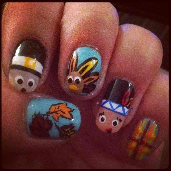 25 Best Thanksgiving Nail Art Images On Pinterest Nail Scissors