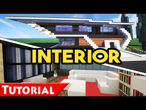 Minecraft: Modern House Interior Design Tutorial / How To Make / Modern  House 6 /