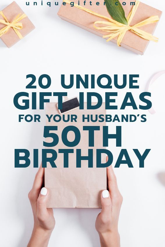 gift ideas for your husband's 50th birthday | Milestone Birthday Ideas | Gift Guide for Husband | Fiftieth Birthday Presents | Creative Gifts for Men