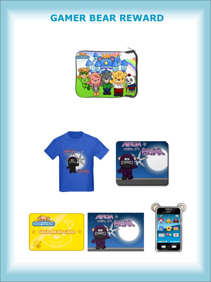 GAMER BEAR REWARD - Secret Bear World iPad Sleeve (exclusively designed only for Kickstarter rewards) plus the NINJA BEAR REWARD upgraded to 30,000 Bear Coins ($300 value)! And yes, you may request a sleeve for your Tablet instead of iPad. Please specify the model of your iPad or Tablet.