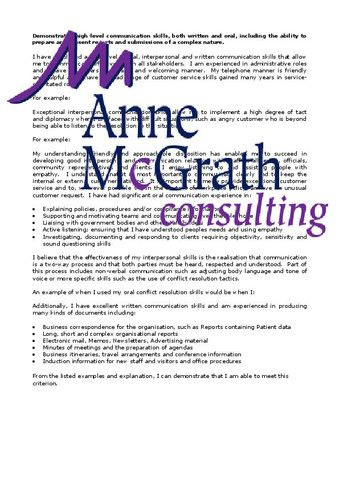 Admin - Demonstrated high-level communication skills – Professional Resumes @ Anne McGrath Consulting