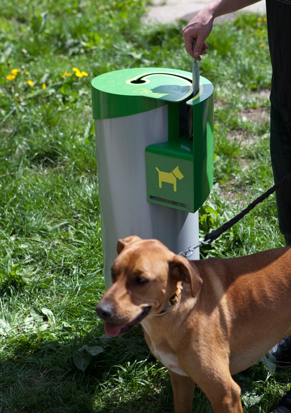 This new trash receptacle only accepts doggy poop bags.