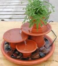 Homemade outdoor water fountain...