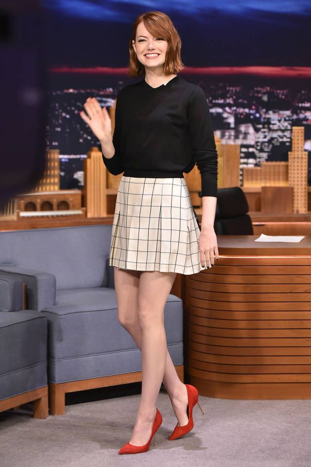 Emma Stone has chic red carpet styling mastered, see her best looks from 'The Birdman' tour here.