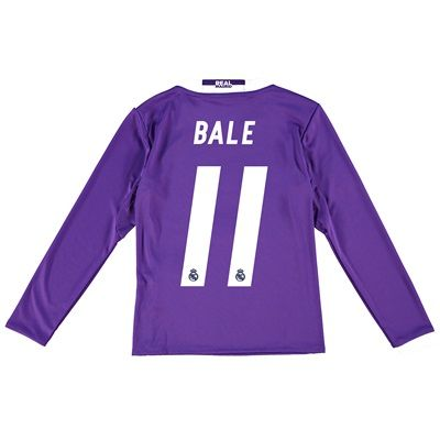 Real Madrid Away Jersey 2016/17 - Kids - Long sleeve - with Bale 11 pr: The Real Madrid Away Shirt 2016-17… #RealMadridShop #RealMadridStore