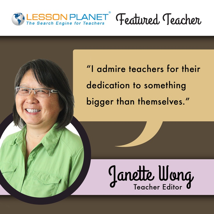 LessonPlanet.com Featured Teacher -- Janette Wong