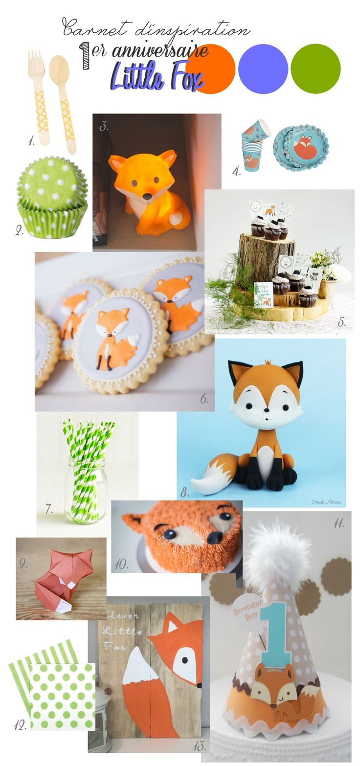 Carnet d'inspiration anniversaire little fox