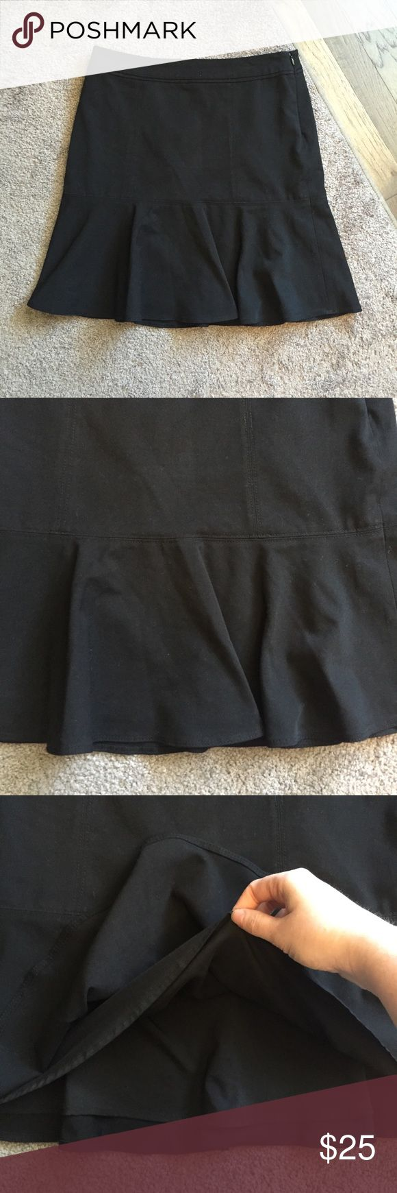 White House Black Market Black Peplum Skirt Sz 4 Excellent condition! Thank you for looking! White House Black Market Skirts A-Line or Full