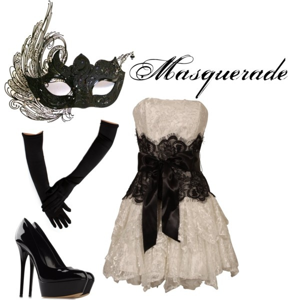 Masquerade, created by redheadpeacock on Polyvore