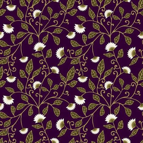 Aubergine Vine Fabric fabric by kezia on Spoonflower - custom fabric