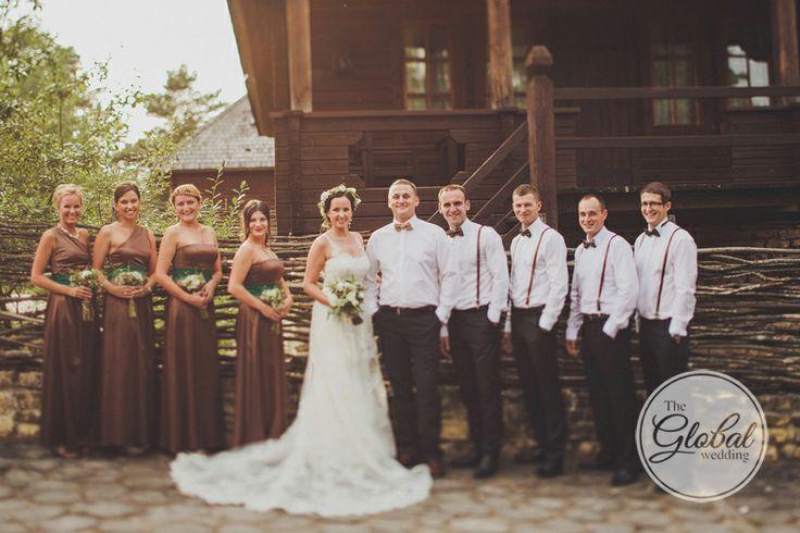 Свадьба в стиле рустик. Эко стиль свадьбы. Свадьба в деревенском стиле. Eco wedding. Rustic wedding. Фотограф Дмитрий Герасимович. Подружки невесты и друзья невесты. #bridesmaids